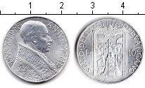 Изображение Монеты Ватикан 10 лир 1950 Алюминий XF Пий XII