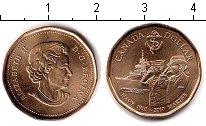 Изображение Мелочь Канада 1 доллар 2010 Медь UNC- 100 лет Королевскому