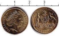 Набор монет Австралия 1 доллар Латунь 2008 UNC