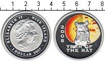 Изображение Монеты Ниуэ 1 доллар 2007 Серебро Proof Год Крысы