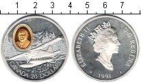 Изображение Монеты Канада 20 долларов 1991 Серебро Proof- Авиация