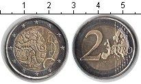 Изображение Мелочь Финляндия 2 евро 2010 Биметалл UNC- 150 лет валютному де