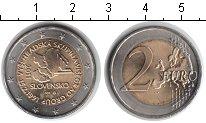 Изображение Мелочь Словакия 2 евро 2011 Биметалл UNC- 20 лет формирования