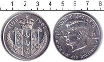 Изображение Мелочь Ниуэ 5 долларов 1988 Медно-никель UNC- Джон Кеннеди.