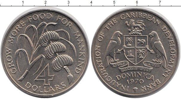 Картинка Мелочь Доминиканская республика 4 доллара Медно-никель 1970