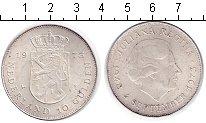 Изображение Монеты Нидерланды 10 гульденов 1973 Серебро UNC-