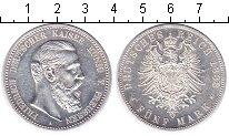 Изображение Монеты Пруссия 5 марок 1888 Серебро XF Фридрих