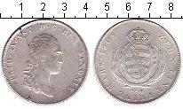 Монета Саксония 1 талер Серебро 1808 XF фото