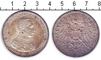 Изображение Монеты Пруссия 5 марок 1914 Серебро XF Вильгельм II. 25 лет