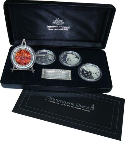 Изображение Подарочные наборы Австралия Шедевры в серебре 2007 Серебро Proof