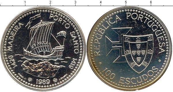 Картинка Подарочные монеты Португалия Архипелаг Мадейра Серебро 1989
