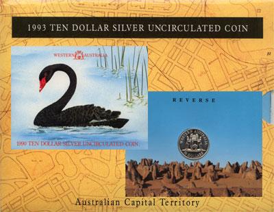 Изображение Подарочные монеты Австралия Выпуск 1990 1990 Серебро UNC Подарочная монета 19