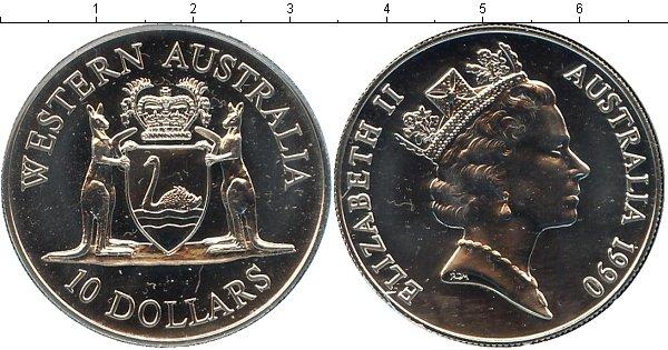 Картинка Подарочные монеты Австралия Выпуск 1990 Серебро 1990