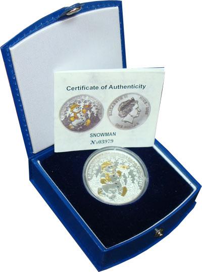 Изображение Подарочные монеты Ниуэ 1 доллар 2008 Серебро UNC Подарочная монета по