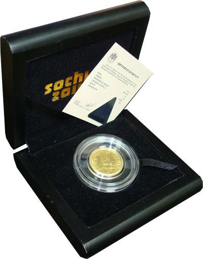 Изображение Подарочные монеты Россия 50 рублей 2014 Золото Proof Подарочная монета по