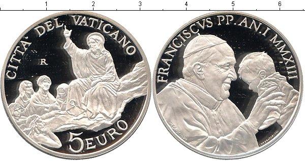 Картинка Подарочные монеты Ватикан Франциск Серебро 2013