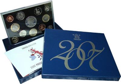 Изображение Подарочные наборы Великобритания Новые гербы 2007 2007  Proof Подарочный набор сос