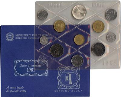 Изображение Подарочные монеты Италия Выпуск 1981 года 1981  UNC