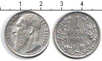 Изображение Мелочь Бельгия 1 франк 1909 Серебро XF