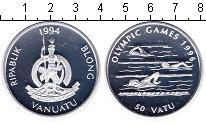Изображение Монеты Вануату 50 вату 1994 Серебро  Плавание