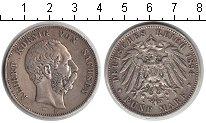 Изображение Монеты Саксония 5 марок 1894 Серебро VF Альберт
