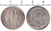 Изображение Мелочь Третий Рейх 5 марок 1935 Серебро XF А. Пауль фон Гинденб