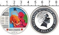 Изображение Монеты Ниуэ 1 доллар 2008 Серебро Proof Год Крысы