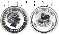 Изображение Монеты Австралия 50 центов 2003 Серебро Proof Год Козы
