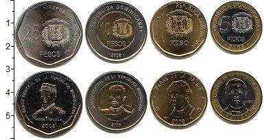 Изображение Наборы монет Доминиканская республика Доминиканская республика 2008-2010 2008  UNC- /