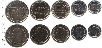Изображение Наборы монет Венесуэла Венесуэла 2002-2004 0  UNC- В наборе 5 монет ном