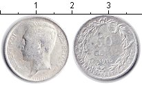 Изображение Монеты Бельгия 50 сантимов 1910 Серебро  Альберт. DES BELGES