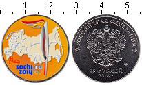 Изображение Цветные монеты Россия 25 рублей 2014 Медно-никель UNC- Олимпиада в Сочи. Фа