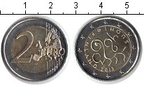 Изображение Мелочь Финляндия 2 евро 2013 Биметалл UNC- 150 лет Сейму 1863 г