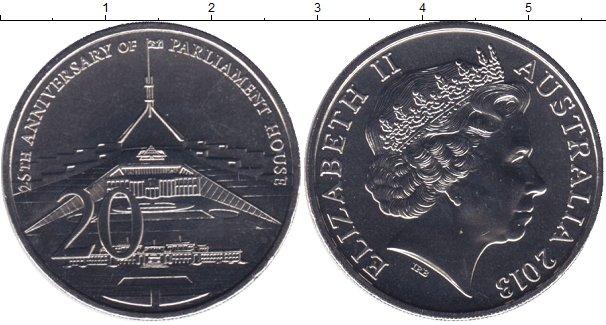 Картинка Мелочь Австралия 20 центов Медно-никель 2013