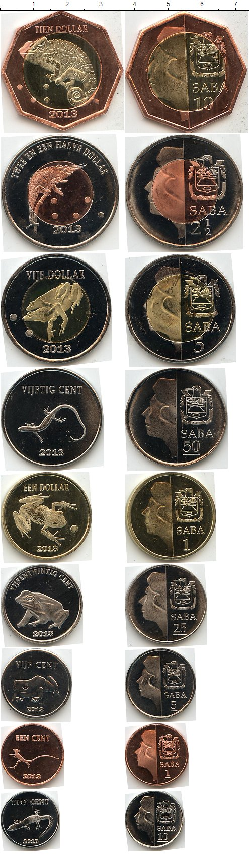 Картинка Наборы монет Саба Саба 2013  2013