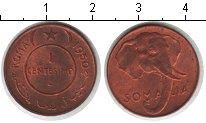 Изображение Монеты Сомали 1 сентесимо 1950 Медь UNC- слон