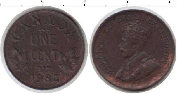 Картинка Монеты Канада 1 цент Медь 1932