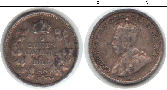 Картинка Монеты Канада 5 центов Серебро 1912