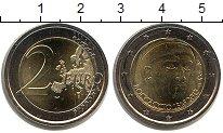 Изображение Мелочь Италия 2 евро 2013 Биметалл UNC- 700 лет со дня рожде