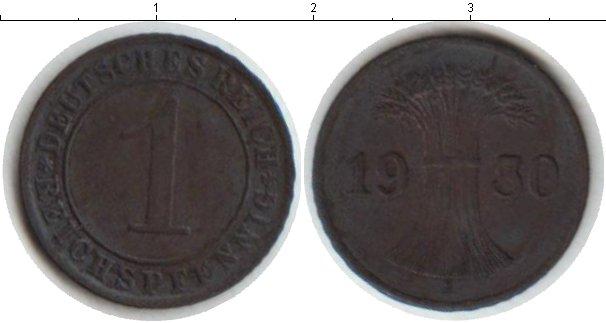Картинка Мелочь Веймарская республика 1 пфенниг Медь 1930
