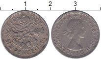 Изображение Мелочь Великобритания 6 пенсов 1966 Медно-никель XF Елизавета II. Уточня