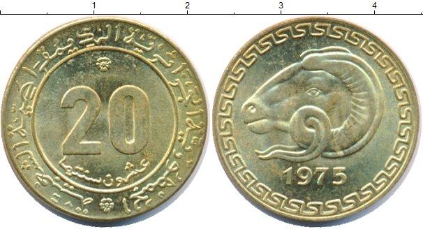 Картинка Мелочь Алжир 20 сантимов Медь 1975