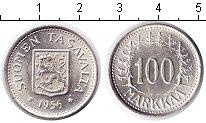Изображение Мелочь Финляндия 100 марок 1956 Серебро UNC H