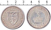 Изображение Монеты Веймарская республика 3 марки 1926 Серебро XF 700 лет дарования во