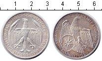 Изображение Монеты Веймарская республика 3 марки 1929 Серебро XF Союз Вальдека и Прус