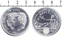 Изображение Мелочь Испания 2.000 песет 2001 Серебро UNC Конец эмиссии песеты