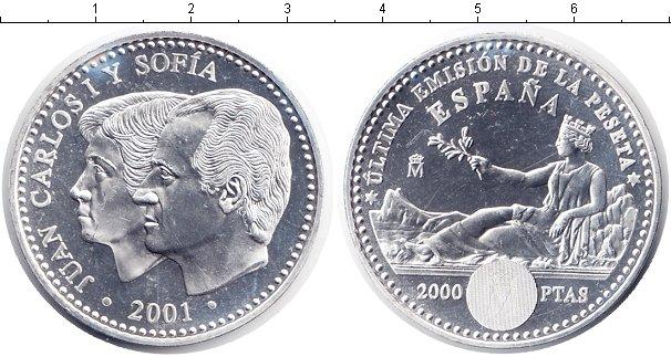 Картинка Мелочь Испания 2.000 песет Серебро 2001