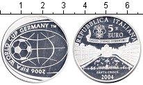 Изображение Монеты Италия 5 евро 2004 Серебро Proof Чемпионат мира по фу