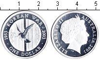 Изображение Монеты Австралия 1 доллар 2003 Серебро Proof 50-я годовщина оконч