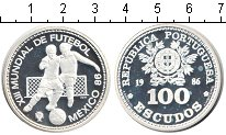 Изображение Монеты Португалия 100 эскудо 1986 Серебро Proof- Мексика 86